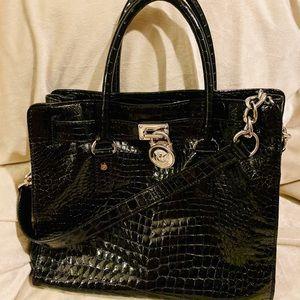 Barely been used Michael Kors Croc Hamilton Bag